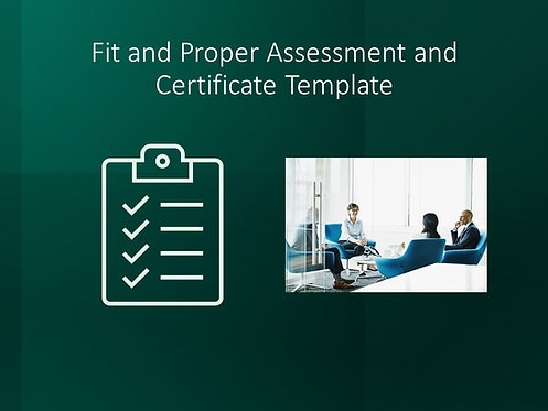Fit and Proper Assessment and Certificate Template