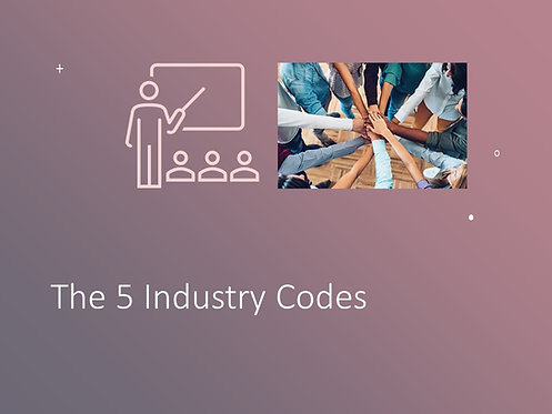 Industry Codes Training Slides and Script