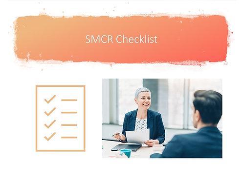 SMCR Checklist