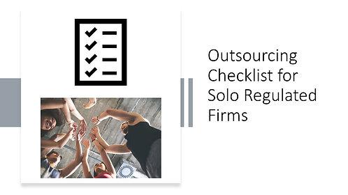FCA Outsourcing Checklist