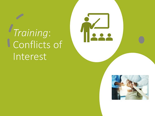 Conflicts of Interest Training Slides and Script