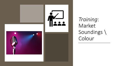 Training: Market Soundings \ Colour