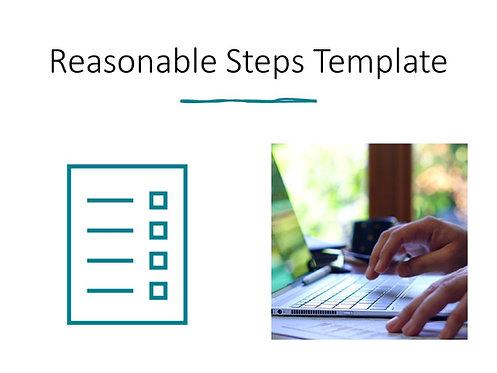 Reasonable Steps Template