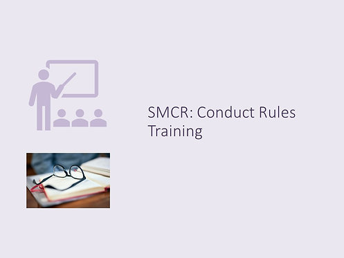 Conduct Rules Training Slides and Script