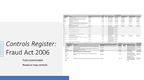 Rules Register: Fraud Act 2006