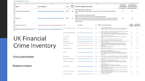 UK Financial Crime Inventory