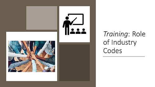 Training: Role of Industry Codes