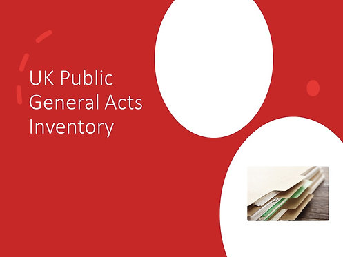UK Public General Acts Inventory