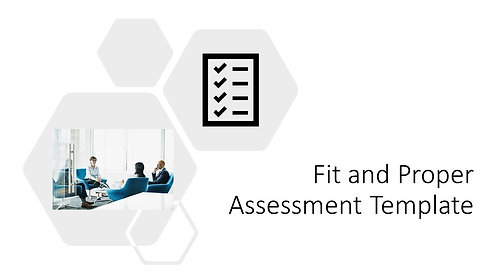 Fit and Proper Assessment Template