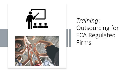 Training on FCA outsourcing