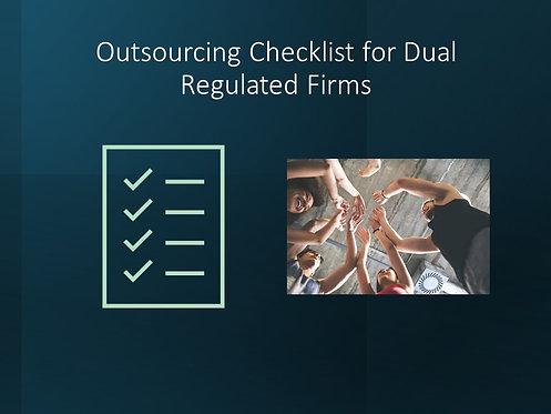 PRA & FCA Outsourcing Checklist