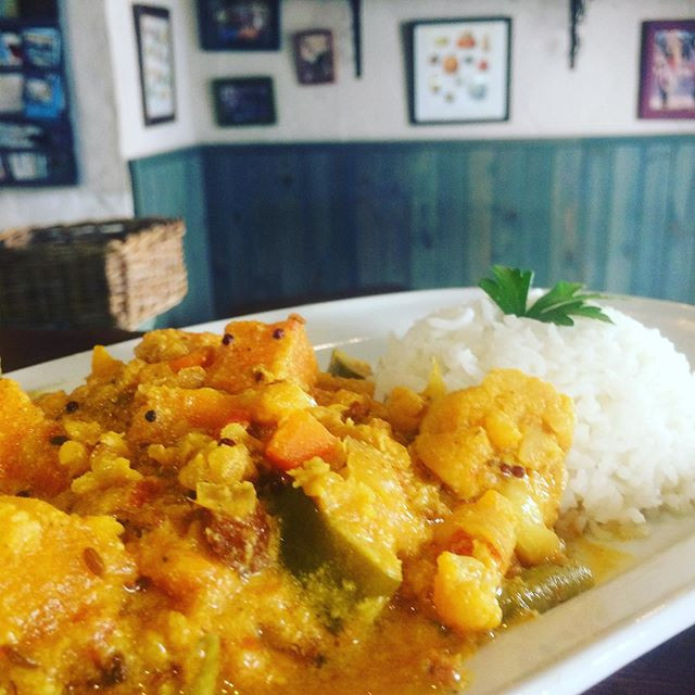 Curry de invierno con arroz