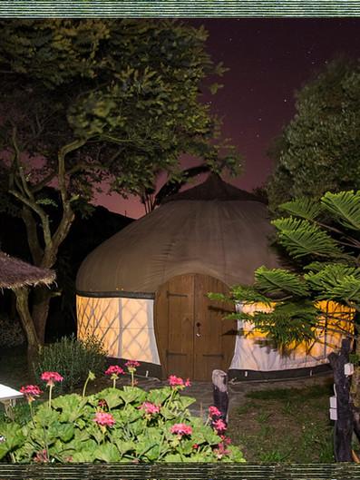 Yurt by night