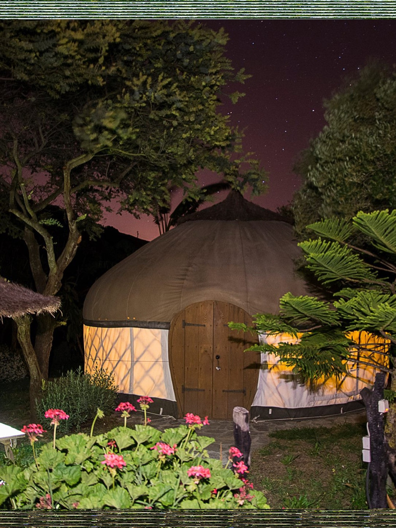 Yurt by night