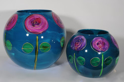 Rosa turquoise bolvazen