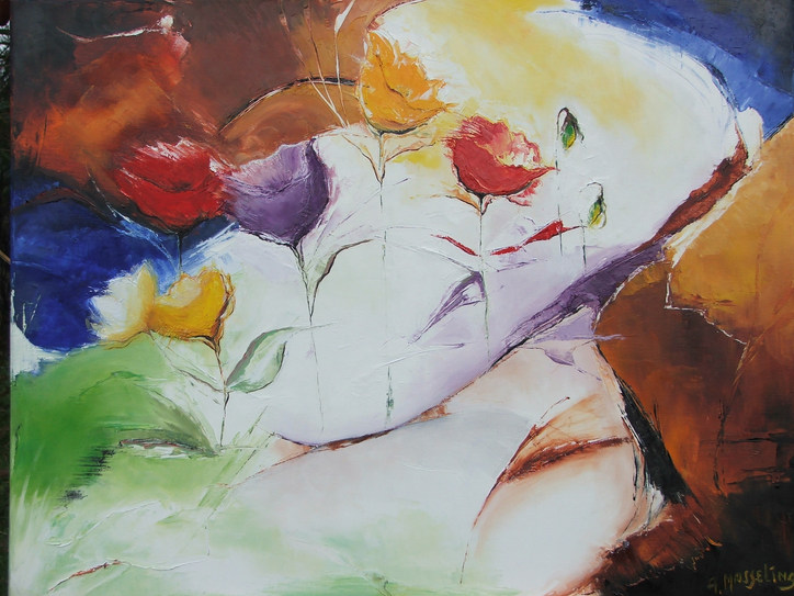 colorful flowers 70x90
