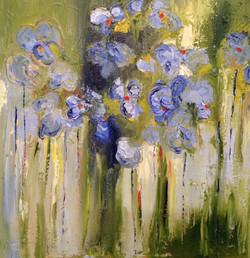 Blauwe bloemen 50-50