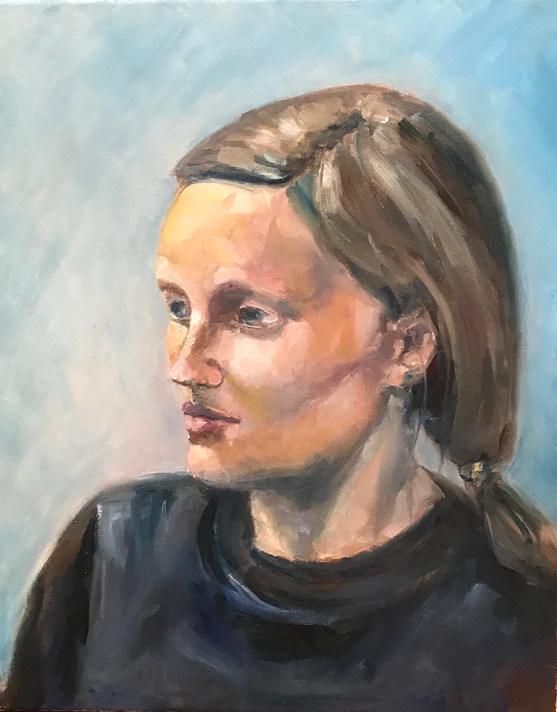 portret 40x50 olie