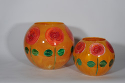 Rosa geel bolvazen
