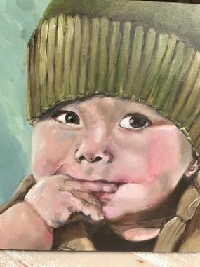 portret olie Kees