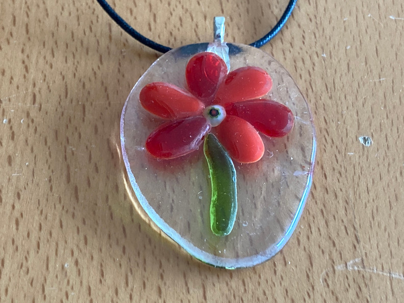 Glasfusion hanger bloem