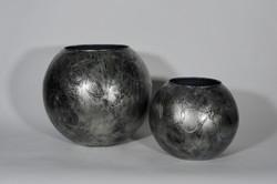Industrial zilver bolvazen