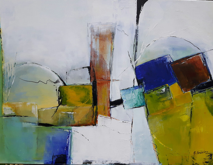 Abstract squares  80 x 60