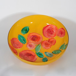 Rosa geel schaal