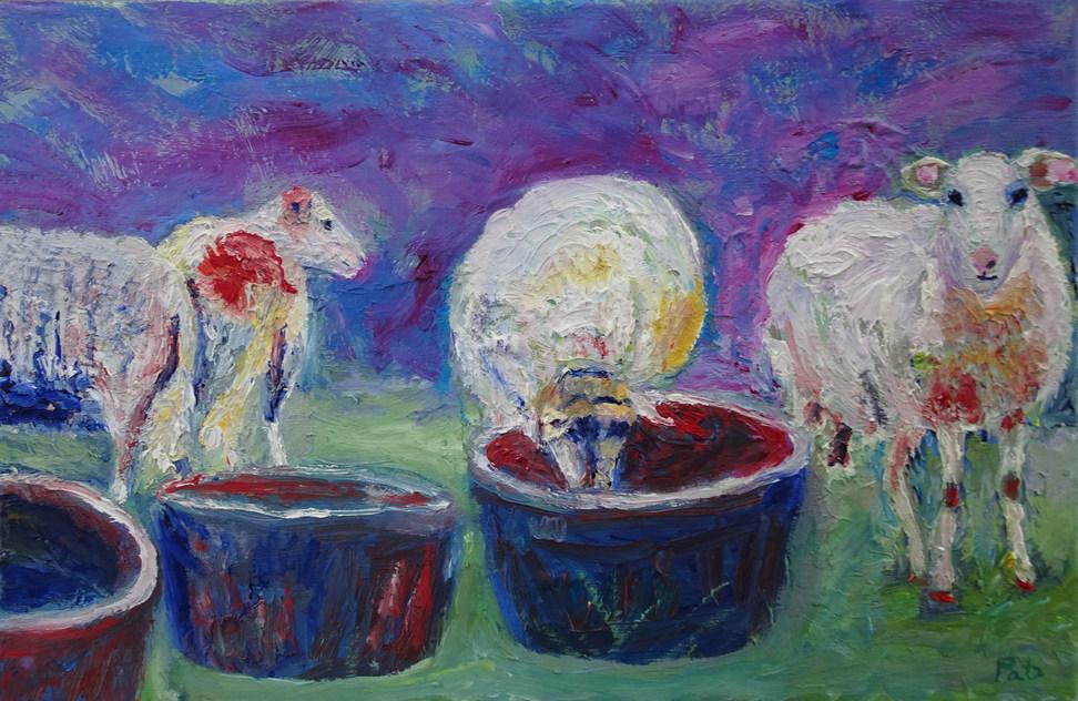 Dorstige schapen
