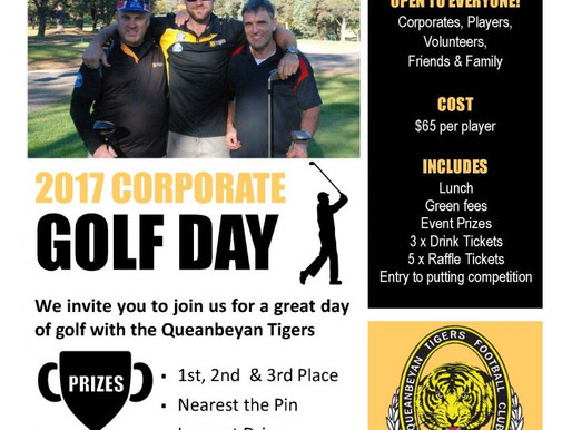 2017 Tigers Golf Day Fast Approaching!