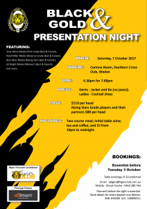 2017 Black and Gold Presentation Night