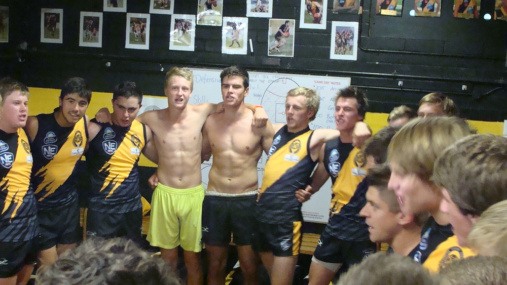 Under 18 Grade after match victory song