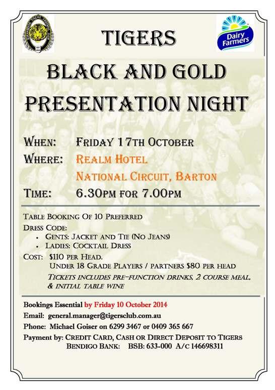 Black and Gold Presentation Night - 2014
