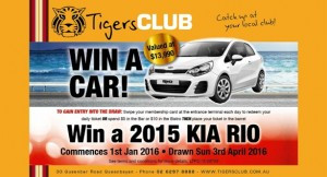 Tigers Club - car draw