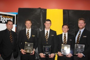 Chris Davis assisted with the presentation to James Kavanagh, Neil irwin, Matt Liddle and Ryan Quade.