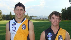 New players for the Tigers - Beau Walker (left) and Ben Fulford.