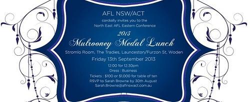 Mulrooney Medal Lunch
