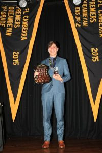 Anthony LoPilato - winner of the Alan Muir Medal for Rising Stars Best and Fairest