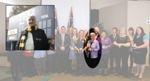 Our very own Jill Bright, front and centre with her Monaro Service Award.