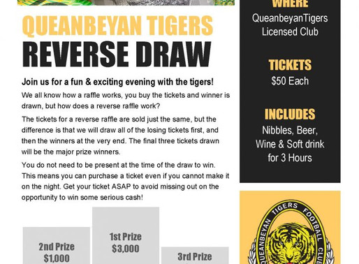 SELLING FAST! – 2018 Reverse Draw
