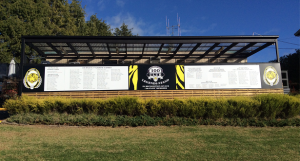 Donors and Volunteers help complete Legends Stand sign and more…