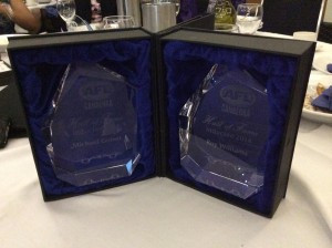 Awards for the AFL Canberra Wall of Fame Inductees - Michael Goiser and Roy Williams