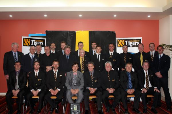 100 Club Members in attendance with the Tigers newest inductee Paul Franchi front and centre