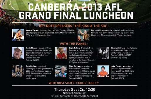 Canberra 2013 AFL Grand Final Luncheon