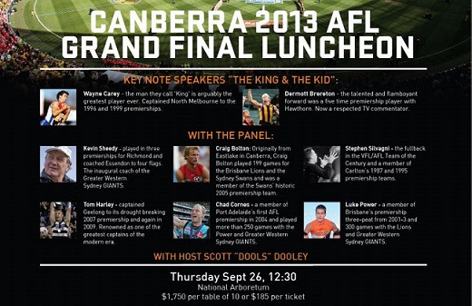 Giants AFL Final Lunch - article