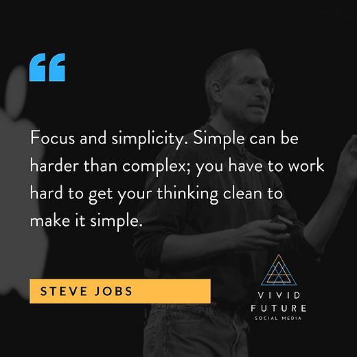 Vivid Future SM Insta Quotes - Steve Job