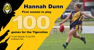 Hannah Dunn - 100 games