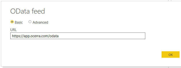 Using public url for OData feed in Ocerra AP automation