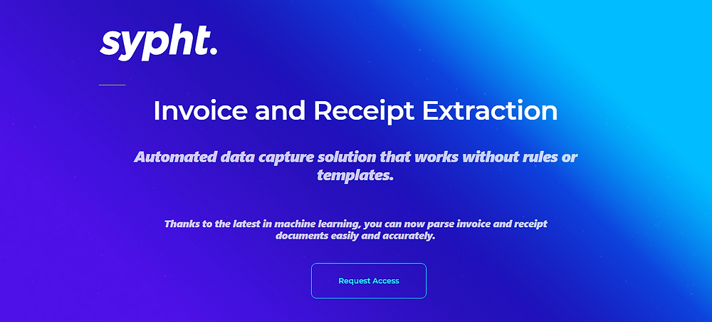 Sypht.ai invoice and receipt extraction