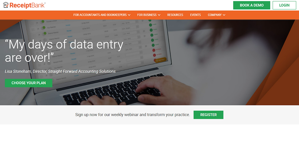 ReceiptBank accounting software